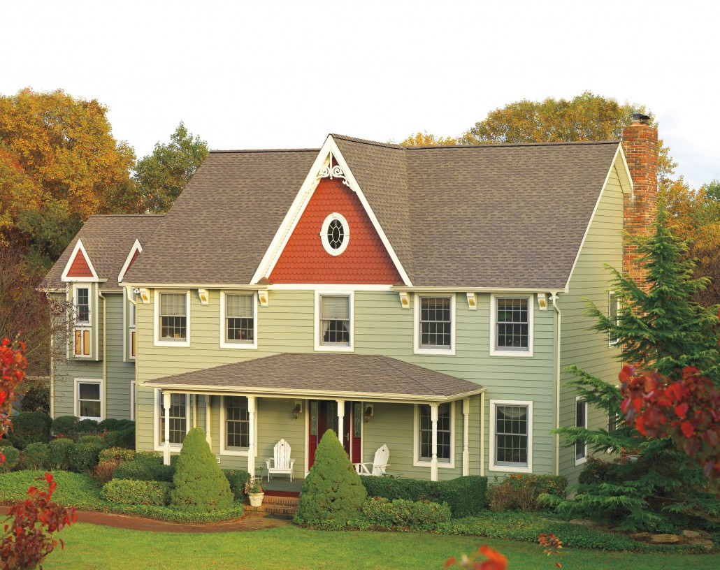 Hardie fiber cement siding provides value curb appeal for Gaf cement siding